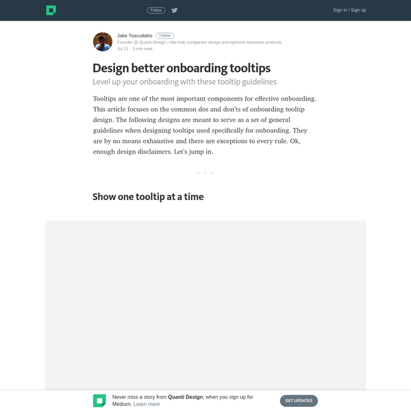 Design better onboarding tooltips - Quanti Design