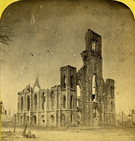 Paul's Universalist Church, south west corner of Wabash and Van Buren, ( destroyed during the Great Fire)