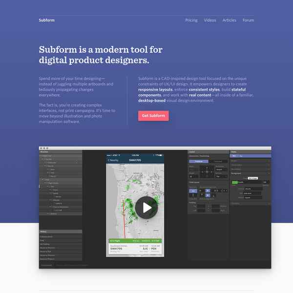 Subform   A modern tool for digital product designers.