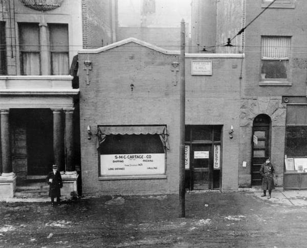In an attempt to wipe away its gang-infested past,  the site of the Valentine's Day Massacre was demolished in 1967. The Saint Valentine's Day massacre is the name given to the 1929 murder of 7 mob associates as part of a prohibition era conflict between two powerful criminal gangs in Chicago: the South Side Italian gang led by Al Capone and the North Side Irish gang led by Bugs Moran.