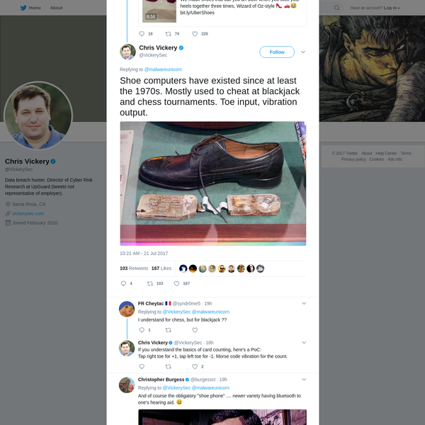 Chris Vickery on Twitter