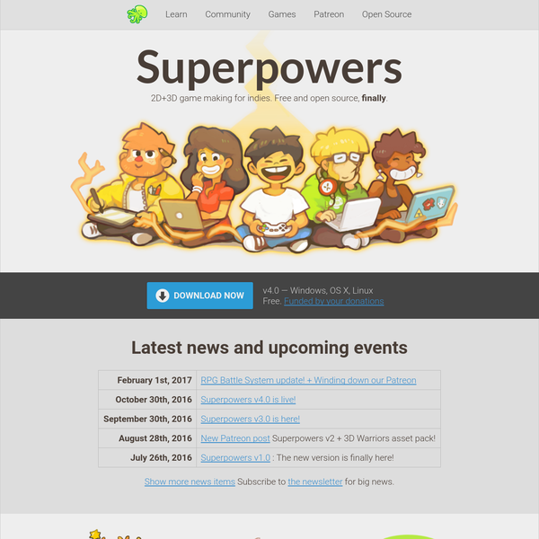 Superpowers - Free 2D+3D game maker, open source
