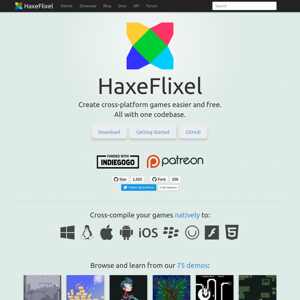Home | HaxeFlixel 2D Game Engine