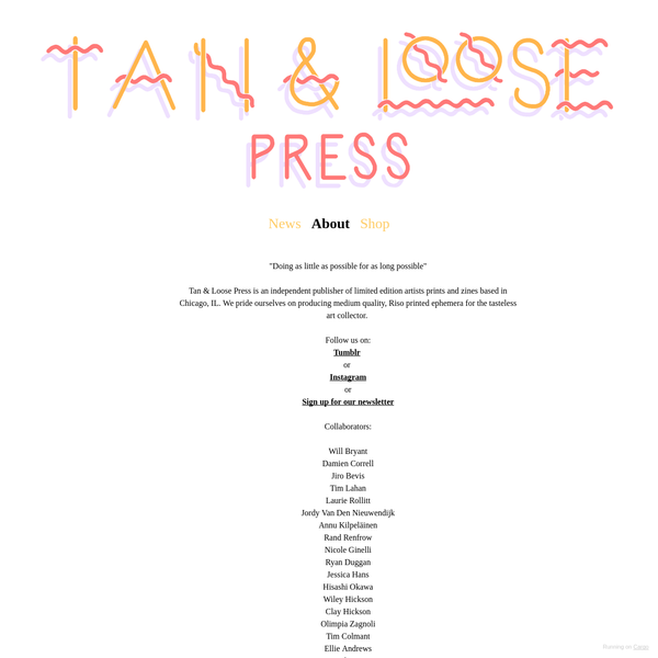 About - Tan & Loose