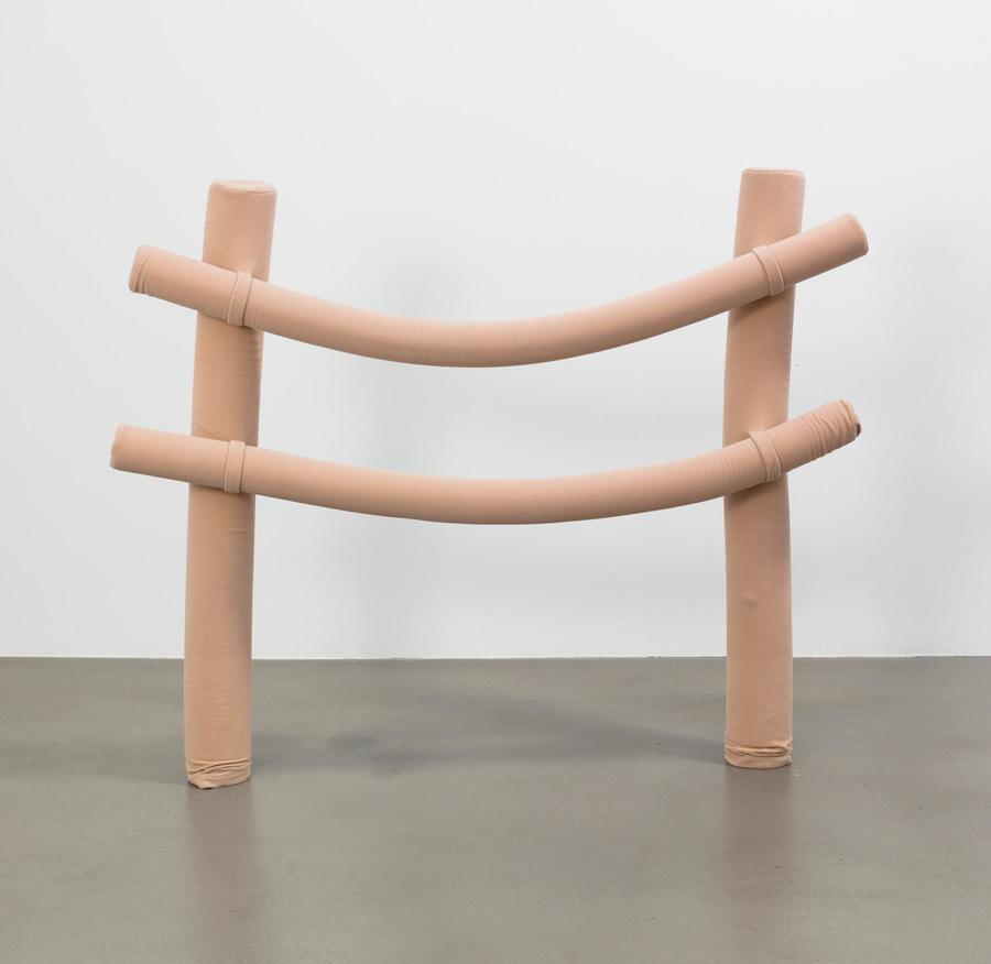 Cosima von Bonin OHNE TITEL (fence) 2000 Wool, foam material 46 x 55 x 8 inches