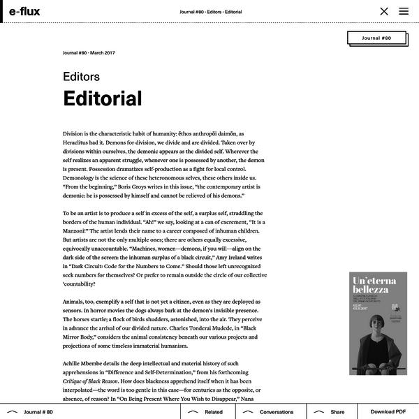 Editorial - Journal #80 March 2017 - e-flux