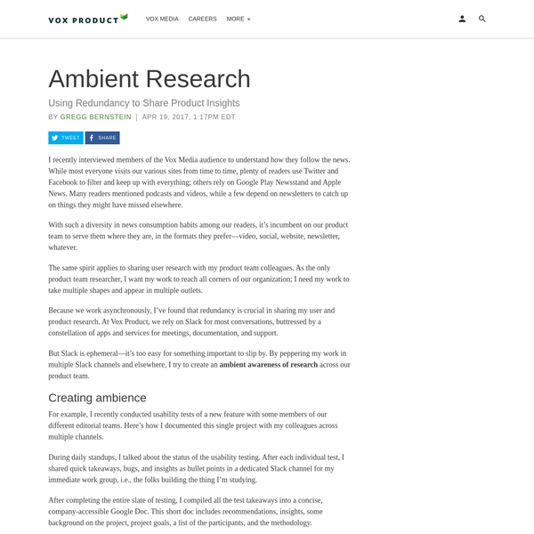Ambient Research