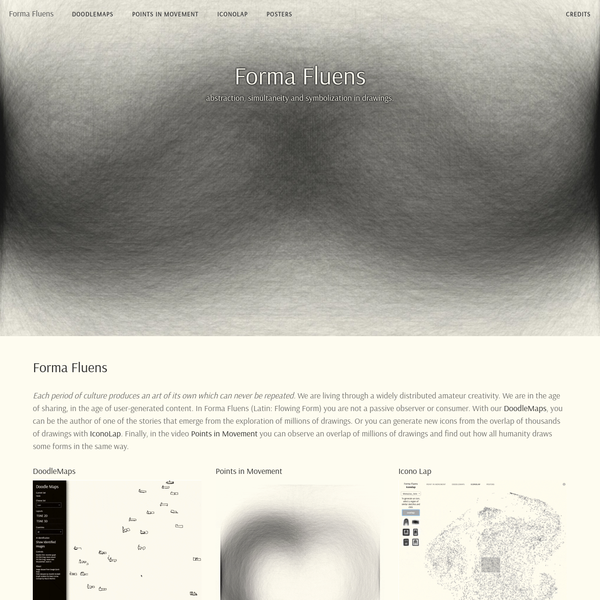 Forma Fluens - abstraction, simultaneity and symbolization in drawings.