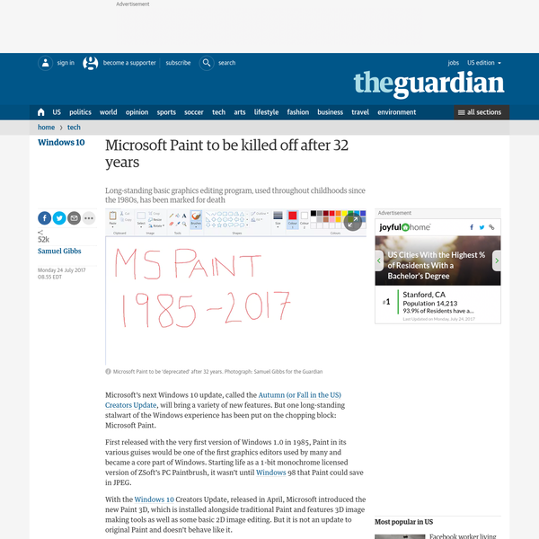 Microsoft's next Windows 10 update, called the Autumn (or Fall in the US) Creators Update, will bring a variety of new features. But one long-standing stalwart of the Windows experience has been put on the chopping block: Microsoft Paint.