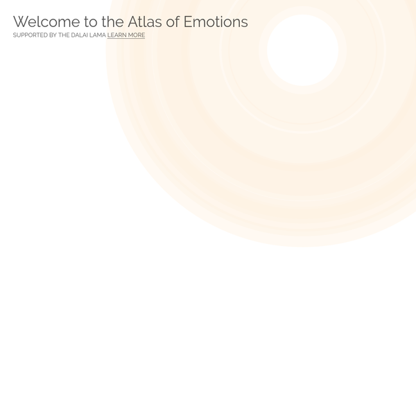 The Atlas of Emotion is a tool to help people better understand what emotions are, how they are triggered and what their effects are, and how to become aware of emotions before acting on them.