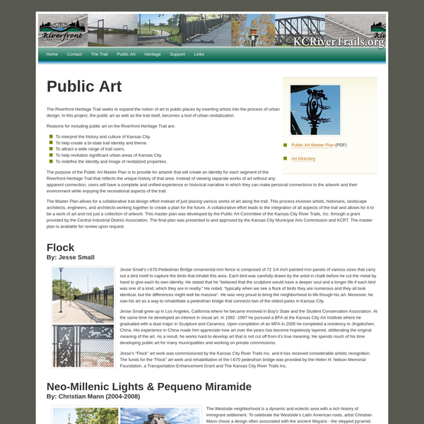 Public Art - KC Riverfront Heritage Trail