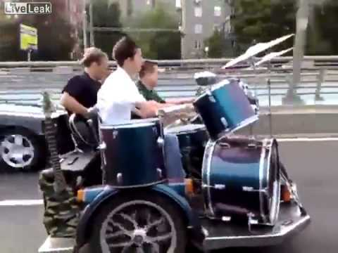 "More videos like this just go to on my blog! http://asseenonyoutubevidoes.blogspot.com/ Bike Band ""I'm A Highway Star"""