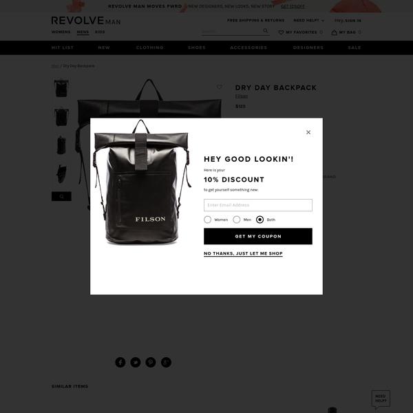 Filson Dry Day Backpack in Black | REVOLVE