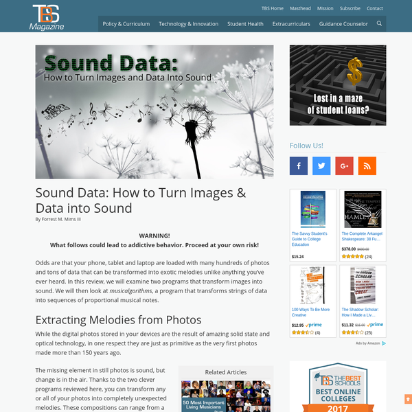 Sound Data: How to Turn Images & Data into Sound | The Best Schools