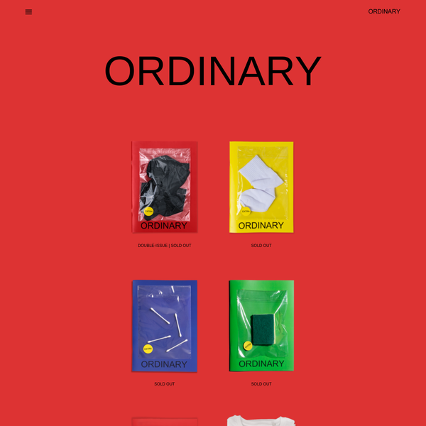 About Ordinary is a quarterly fine art photography magazine featuring over 20 artists from around the world who are sent one ordinary object, which comes as an extra, to make it extra-ordinary.