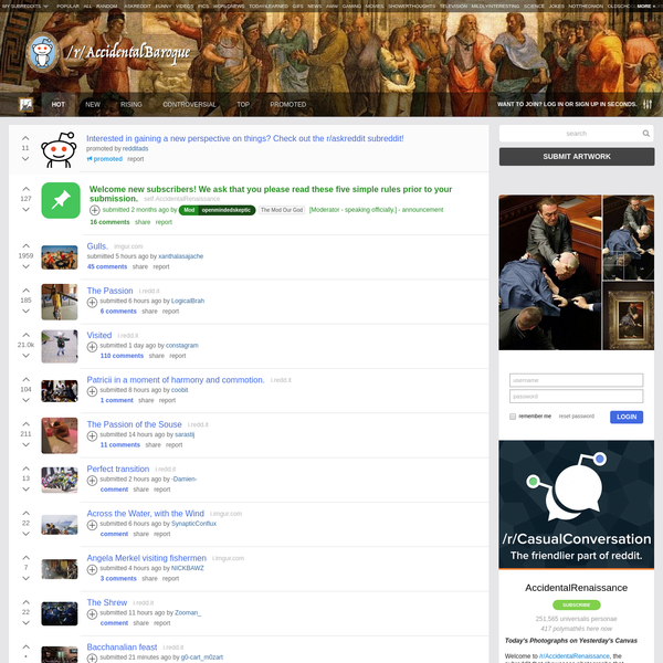 Welcome to /r/AccidentalRenaissance, the subreddit that showcases photographs that inadvertently resemble well-composed Renaissance style art.