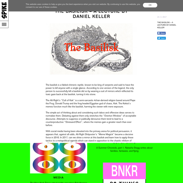 The Basilisk - A Lecture by Daniel Keller