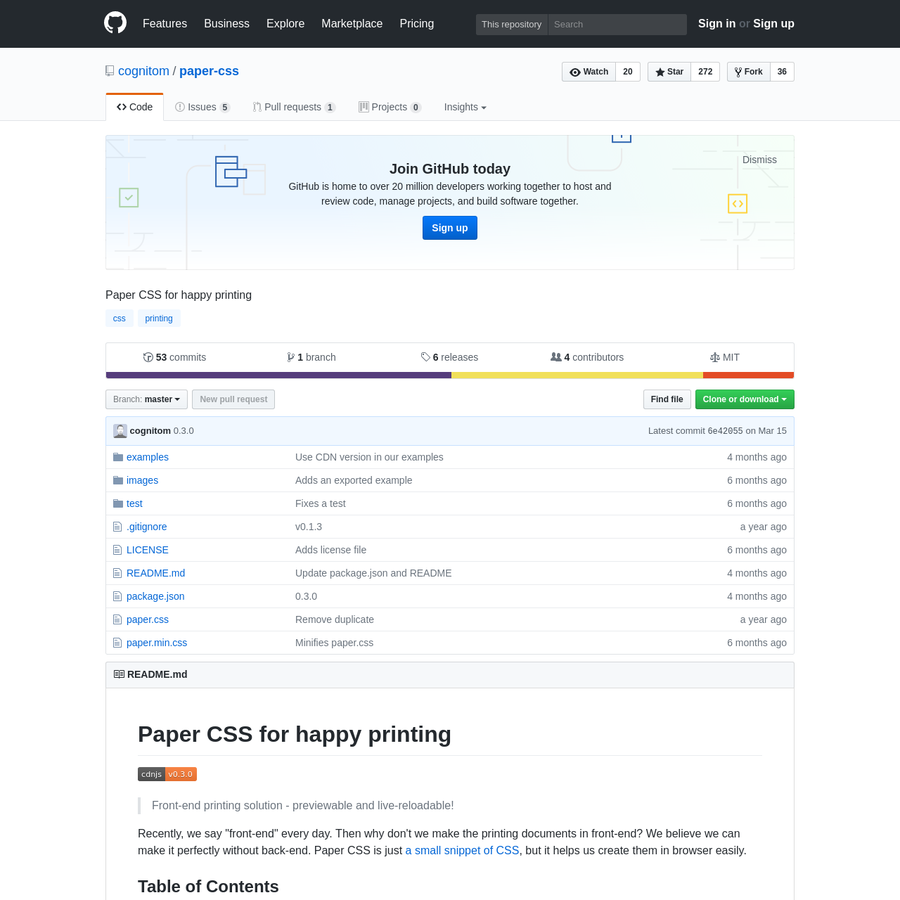 paper-css - Paper CSS for happy printing