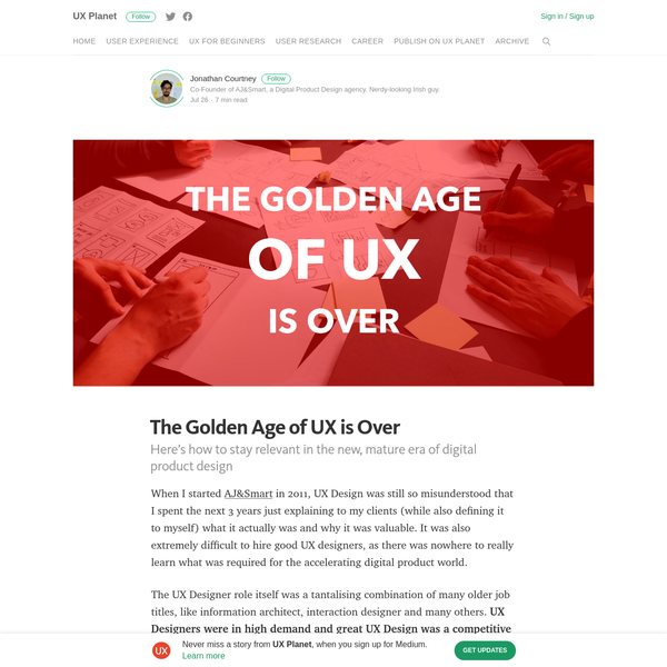 The Golden Age of UX is Over - UX Planet