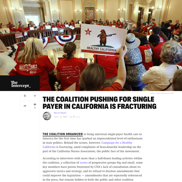 The Coalition Pushing for Single Payer in California Is Fracturing
