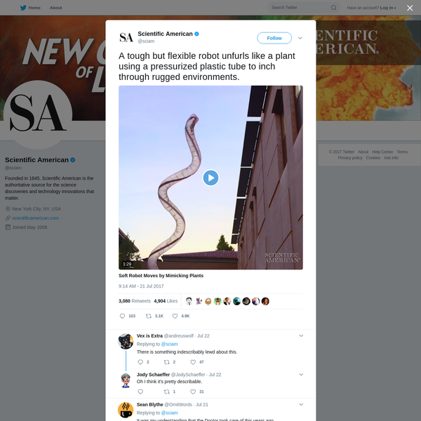 Scientific American on Twitter