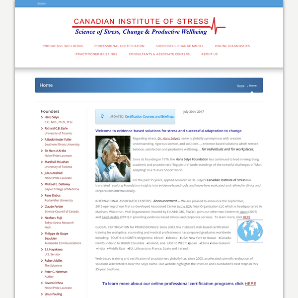 The Canadian Institute of Stress