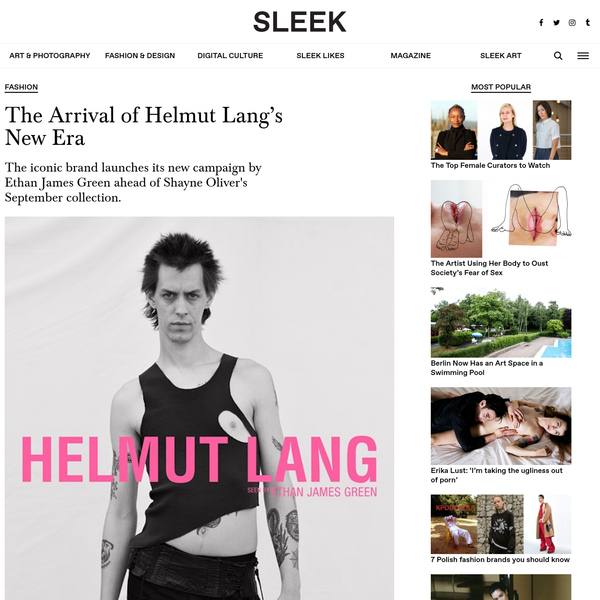 Everyone is talking about Helmut Lang, who earlier this week released a new campaign envisioned by Ethan James Green. It's the most recent of many exciting developments for the brand, following an editorial takeover by Isabella Burley and news of a September release for the upcoming collection designed by Shayne Oliver.
