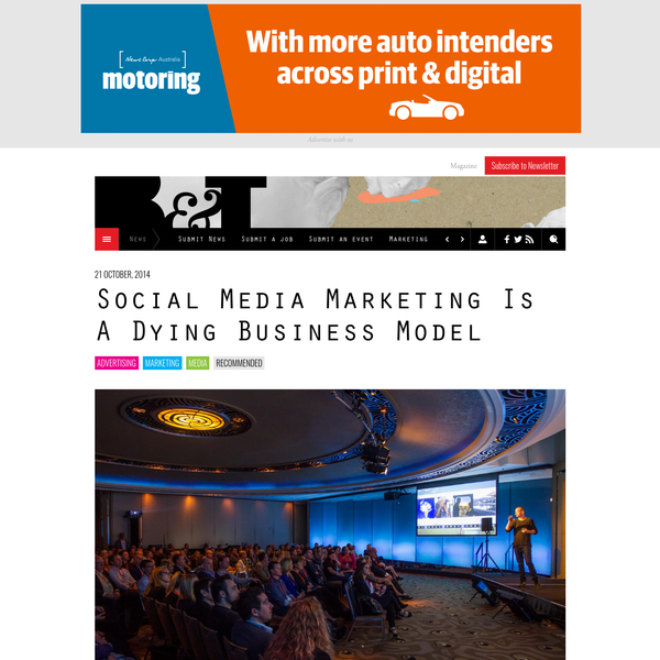 Social Media Marketing Is A Dying Business Model - B&T