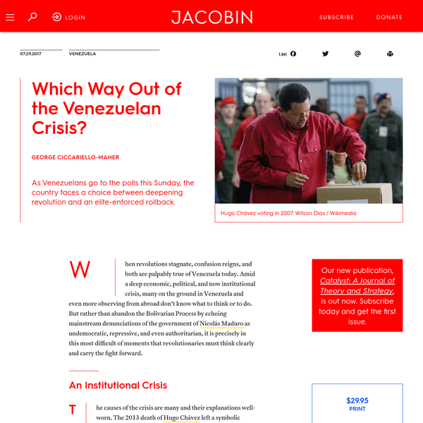 Which Way Out of the Venezuelan Crisis?