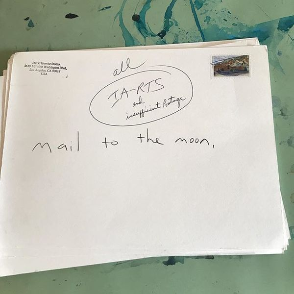 """@oritgat the USPS returned my postcards to the moon. They never left Los Angeles. Invalid address return to sender. An employee wrote """"and insufficient postage"""""""