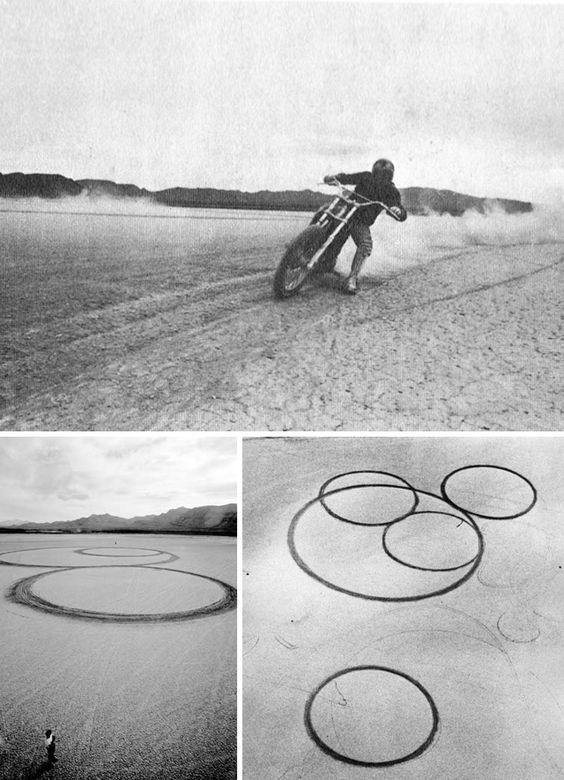 "Heizer - ""Circular Surface Planar Displacement Drawing"""