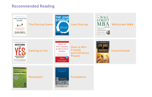 Recommended Reading for Entrepreneurs