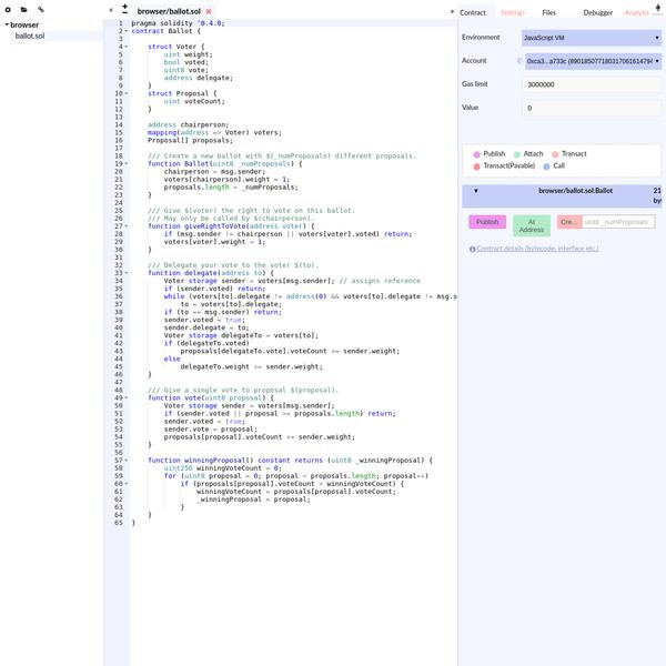 Remix - Solidity IDE