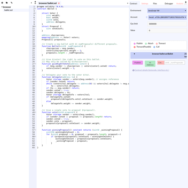 Remix - Solidity IDE