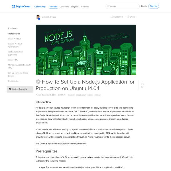 How To Set Up a Node.js Application for Production on Ubuntu 14.04   DigitalOcean