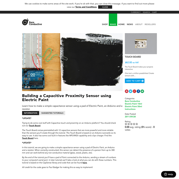 Building a Capacitive Proximity Sensor using Electric Paint - Bare Conductive