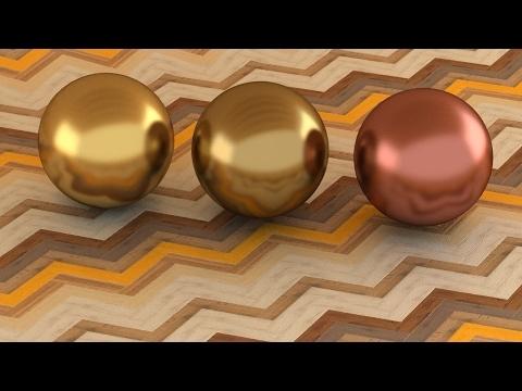3ds Max Vray Realistic Brass - Bronze - Copper Material