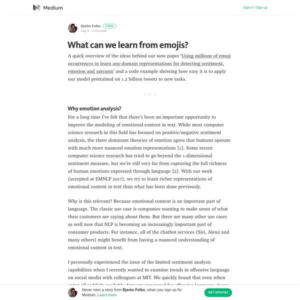 What can we learn from emojis? - Bjarke Felbo - Medium