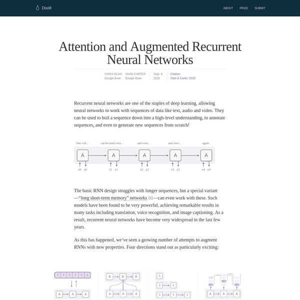 Recurrent neural networks are one of the staples of deep learning, allowing neural networks to work with sequences of data like text, audio and video. They can be used to boil a sequence down into a high-level understanding, to annotate sequences, and even to generate new sequences from scratch!