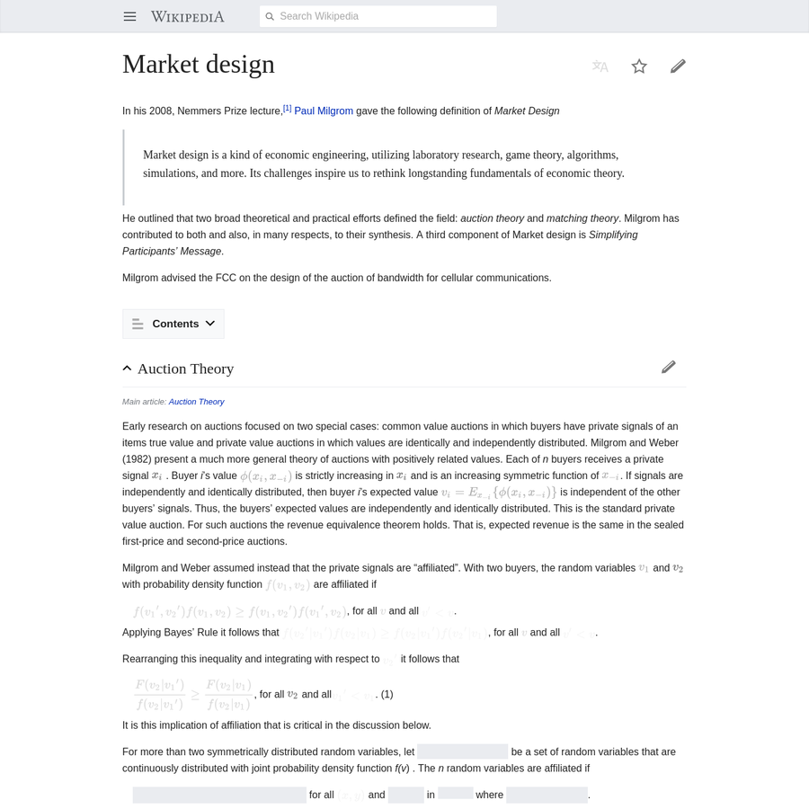 Market design is a kind of economic engineering, utilizing laboratory research, game theory, algorithms, simulations, and more. Its challenges inspire us to rethink longstanding fundamentals of economic theory.