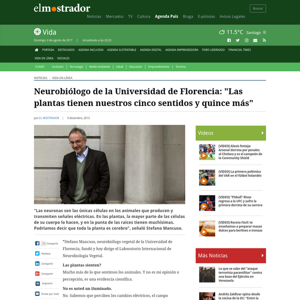 """Neurobiólogo de la Universidad de Florencia: """"Las plantas tienen nuestros cinco sentidos y quince más"""""""