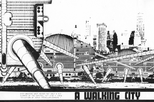 Ron Herron, 1964 https://en.wikipedia.org/wiki/Walking_City