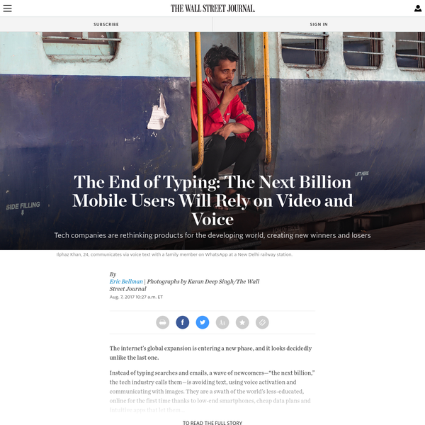 The End of Typing: The Internet's Next Billion Users Want Use Video and Voice