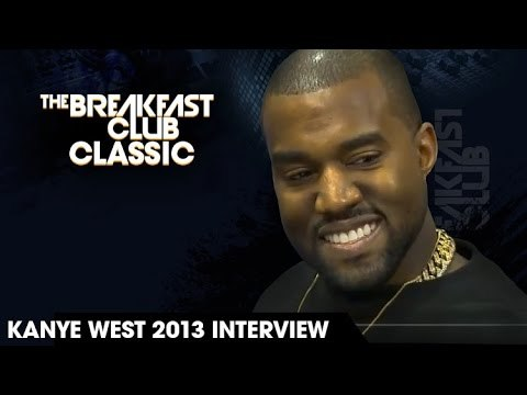 In this now classic 2013 interview Kanye West stopped by the Breakfast Club to be grilled by Charlamagne Tha God. As much as DJ Envy and Angela Yee tried to keep the interview on it's tracks Charalamagne just kept getting under Kanye's skin. He started things off by welcoming him as Kanye Kardashian.