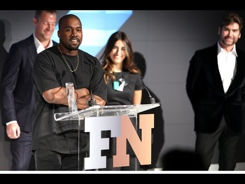West took home the coveted Shoe of the Year award for his Yeezy Boost at the FN Achievement Awards 2015. Click here for full coverage: http://bit.ly/1QX8V1b Click here for the 10 Best Quotes From Kanye West's Acceptance Speech: http://bit.ly/1IGXDGp For Full Red Carpet Coverage: http://bit.ly/1XDluDh