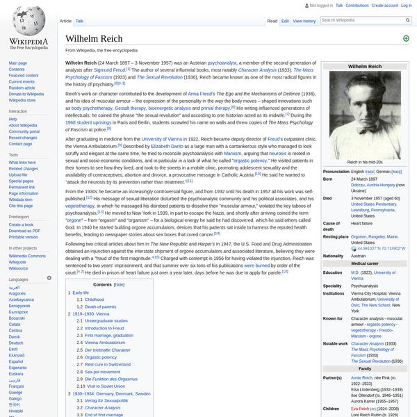 Wilhelm Reich - Wikipedia