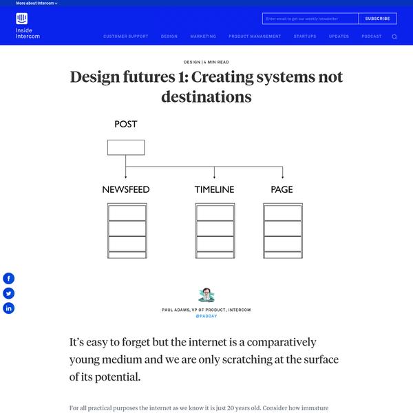 Creating systems not destinations - Inside Intercom