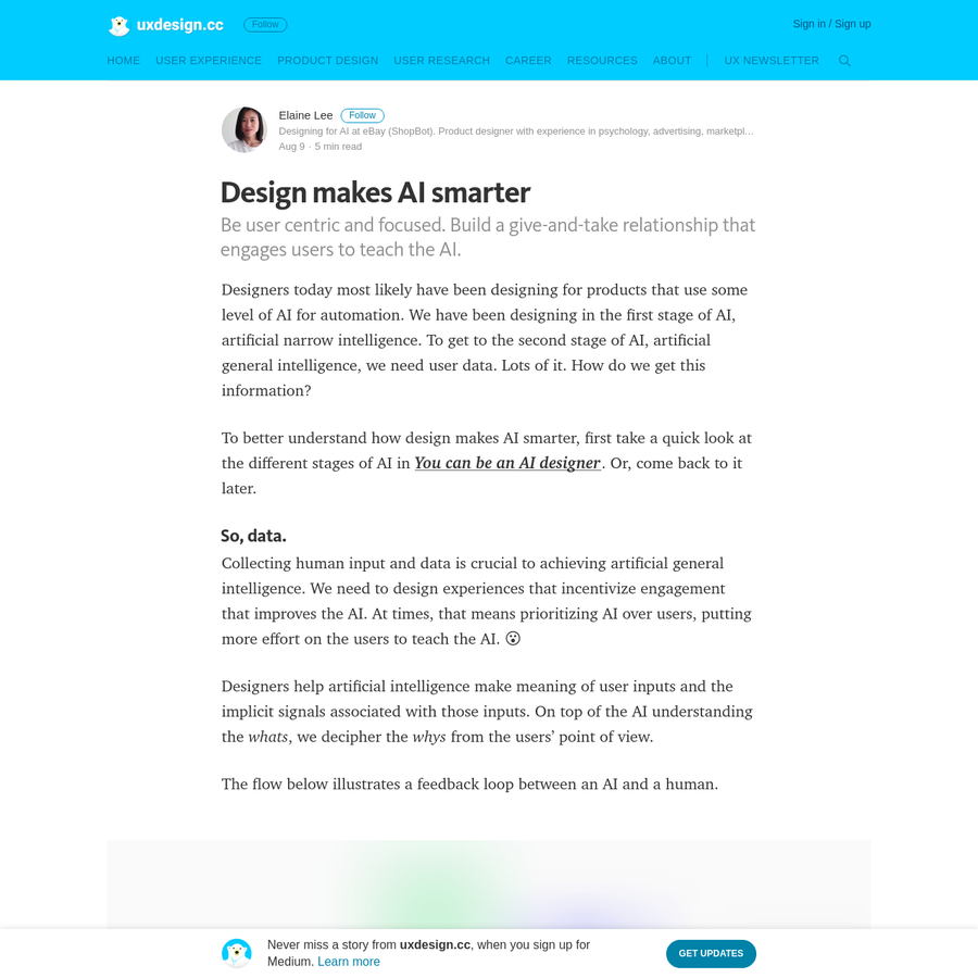 Designers today most likely have been designing for products that use some level of AI for automation. We have been designing in the first stage of AI, artificial narrow intelligence. To get to the second stage of AI, artificial general intelligence, we need user data. Lots of it.
