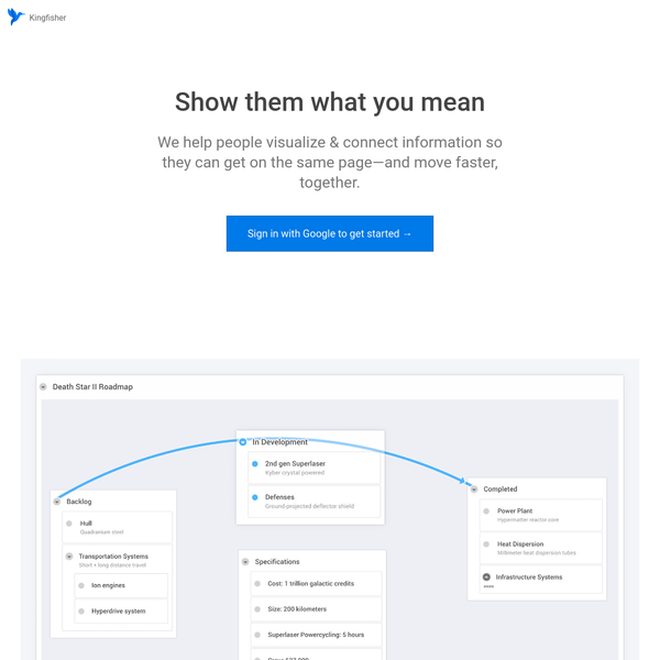 Organize and connect your ideas with visual maps that make your point fast. Say goodbye to long emails or whiteboard photographs-and discover a tool that works the way your brain does.