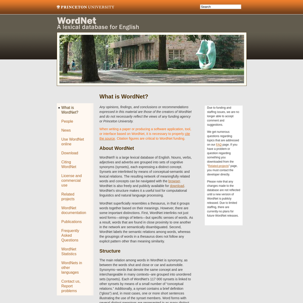 About WordNet - WordNet - About WordNet